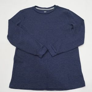 Old Navy Blue Thermal Tee Boys Size XL